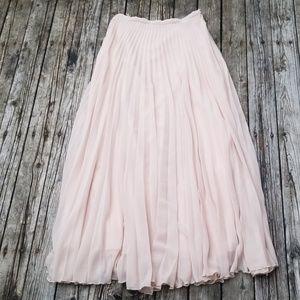 Zara long sheer skirt